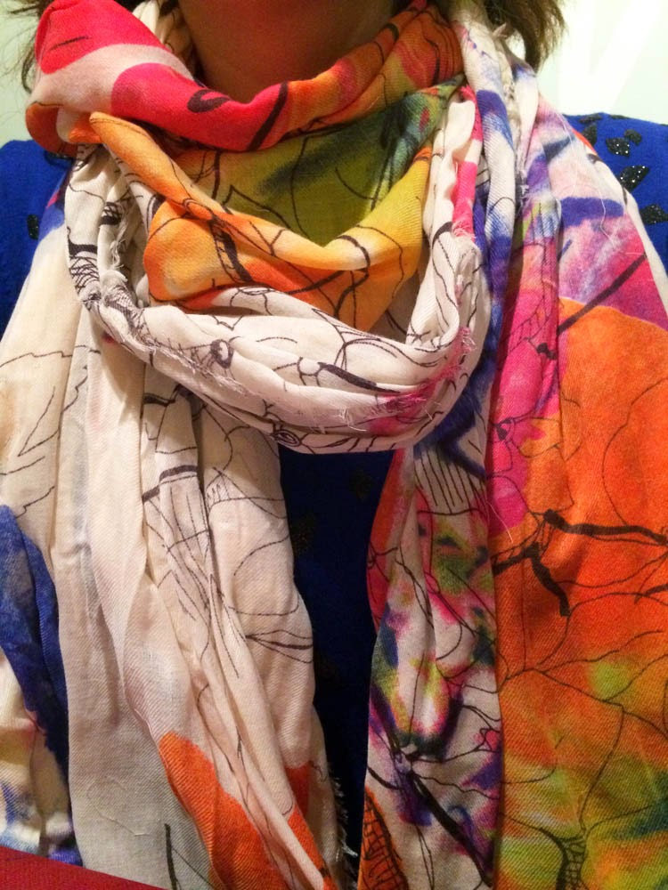 fulard mango print floral