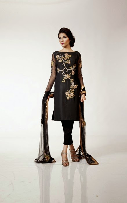 Fahad Hussayn Eid Dress Designs for Girls
