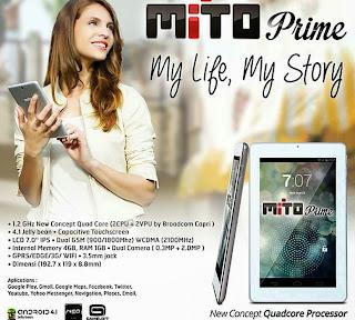 Spesifikasi Dan Harga tablet Mito Prime T330