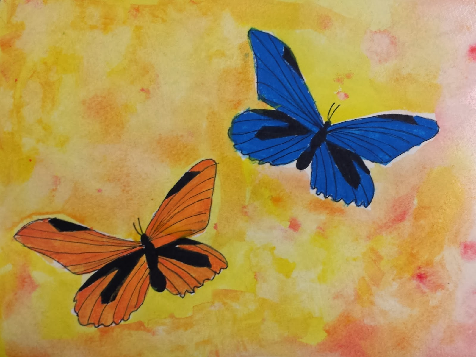 Angela anderson art blog butterfly watercolor paintings for Simple watercolor paintings for kids