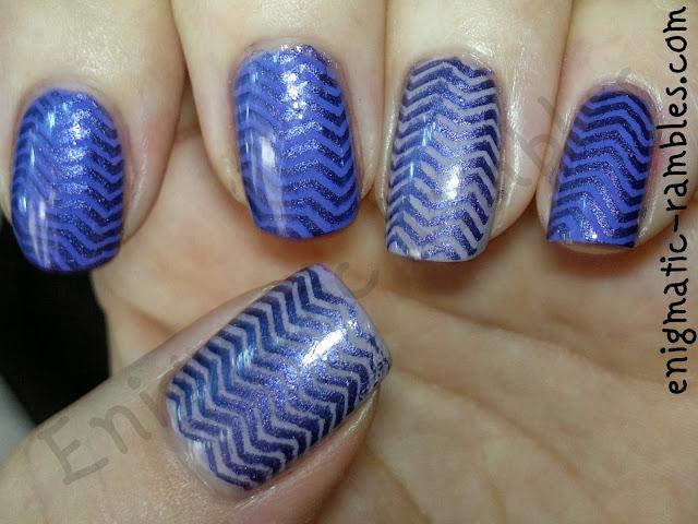 stamped-chevron-nail-nails-art-color-club-sally-hansen-purples-stargazer-bundle-monster-BM201
