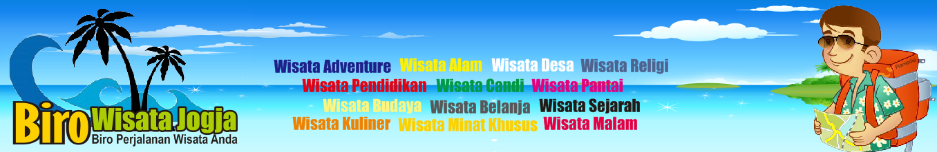 Biro Wisata Jogja,Biro Wisata Jogja adalah biro perjalanan wisata yang berpusat di Yogyakarta Indonesia. Kami adalah biro perjalanan wisata atau Tour and Travel profesional. Biro Wisata Jogja menawarkan paket wisata spesial untuk liburan anda di kota Yogyakarta, mulai dari Paket wisata alam, wisata pantai, wisata Adventure, dll. Sebagai Tour and Travel di Jogja Kami siap memberikan layanan terbaik dengan biaya yang sangat terjangkau.