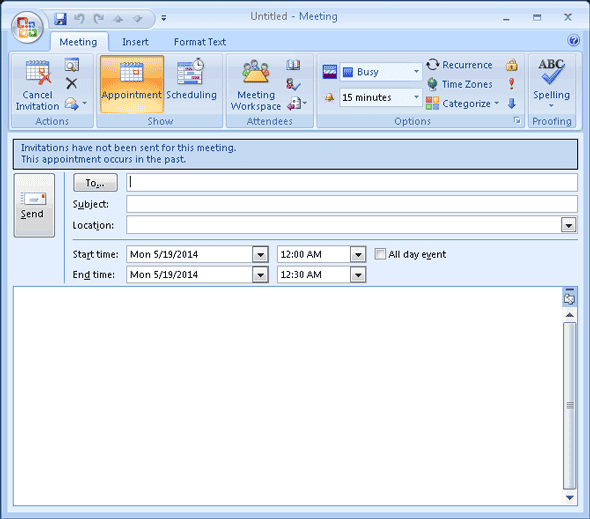 how to create a work schedule in outlook
