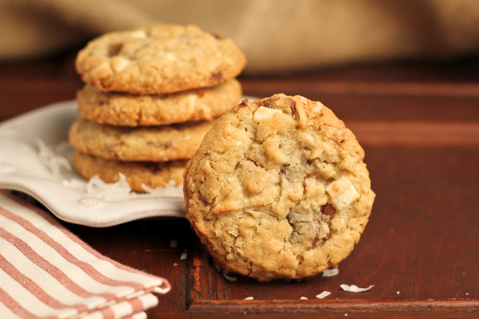 Toffee and White Chocolate Chunk Cookies…Secret Recipe Club~