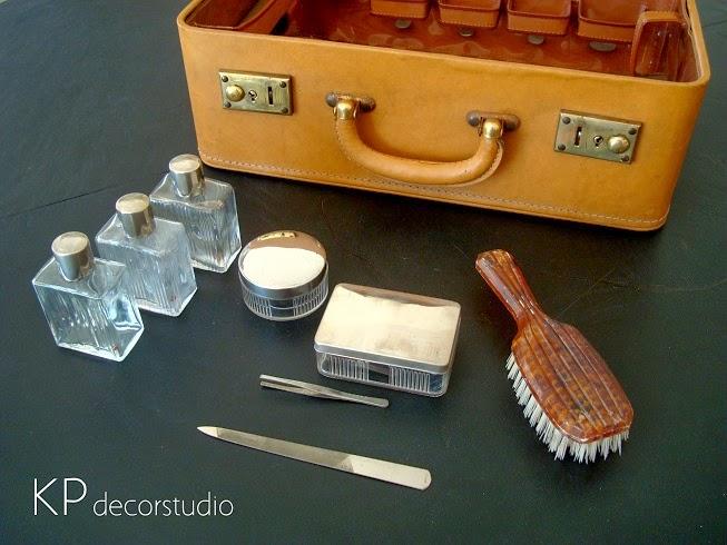 Antiguos maletines vintage. Maletas neceser procedentes de Francia