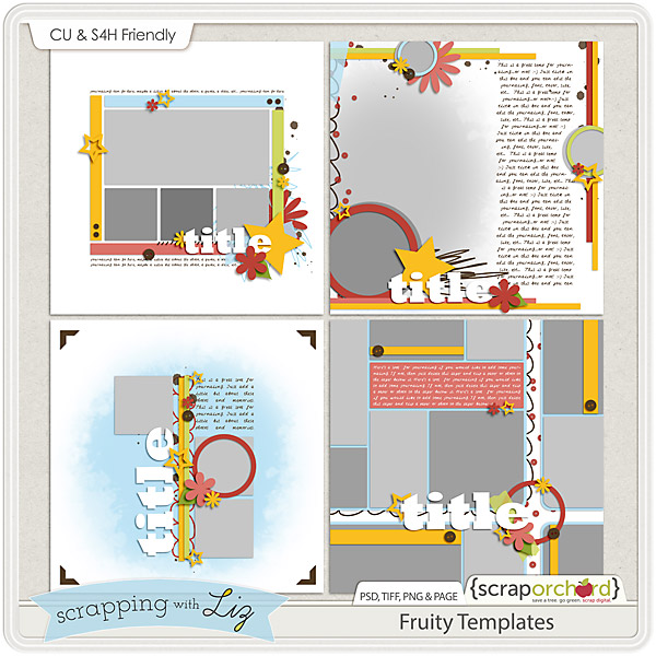 http://scraporchard.com/market/Fruity-Digital-Scrapbook-Templates.html