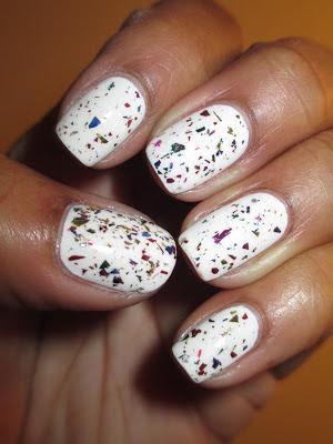 Essie, Blanc, glitter, jawbreaker, Orly, Sec N Dry, nails, nail art, nail design, mani