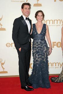 Emily Blunt (Elie Saab Gown) & John Krasinski
