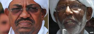 Omar al-Bashir and Hassan al-Turabi