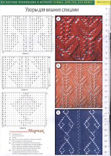 Вязание спицами вертикальные узоры схемы 85
