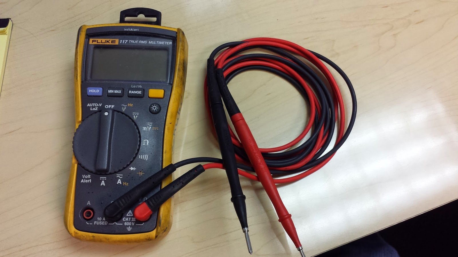FLUKE 117 Multi-Meter for Fire Alarm Troubleshooting