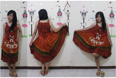 batik pekalongan dress tali bunga