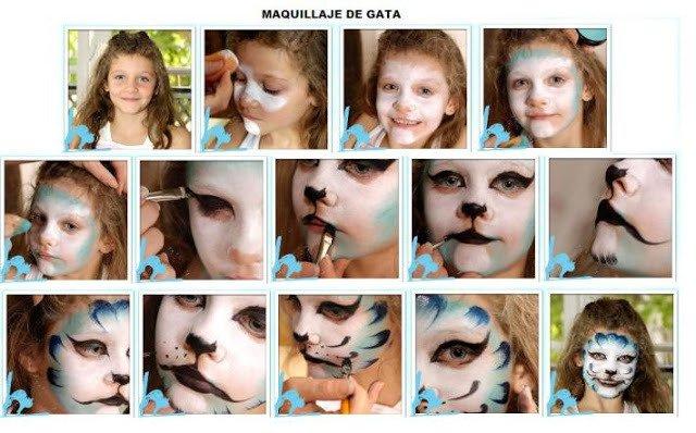 Maquillaje Disfraz Niña Gata