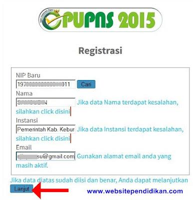 Cara Memasukkan Email di ePUPNS