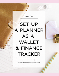 How to set up a planner as a wallet and finance tracker // paperandmoss.blogspot.com
