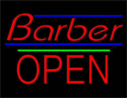 Barber Shops Open : Barber Necklace Galleries: Barber Open Sign