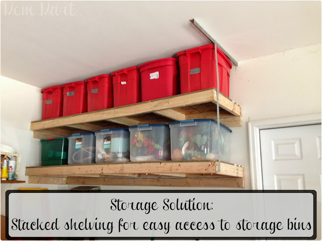 Storage Solution Stacked Shelving for easy access to storage bins