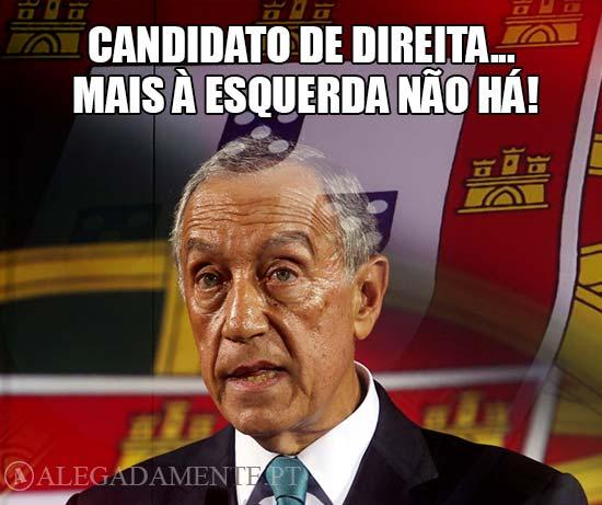 Imagem de Marcelo Rebelo de Sousa - Candidato de Direita…mais à Esquerda não há!