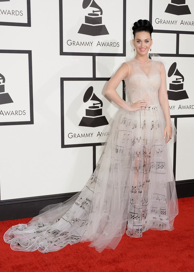 Katy Perry in Valentino at the Grammy awards