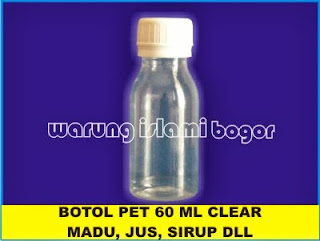 Botol PET Natural 60 ml