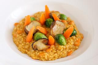 tök sütőtök rizottó risotto kerekszemű rizs sütőtök alaplé zöldségalaplé ősz vargánya kelbimbó csillagánizs narancshéj citromhéj kecskesajt vaj