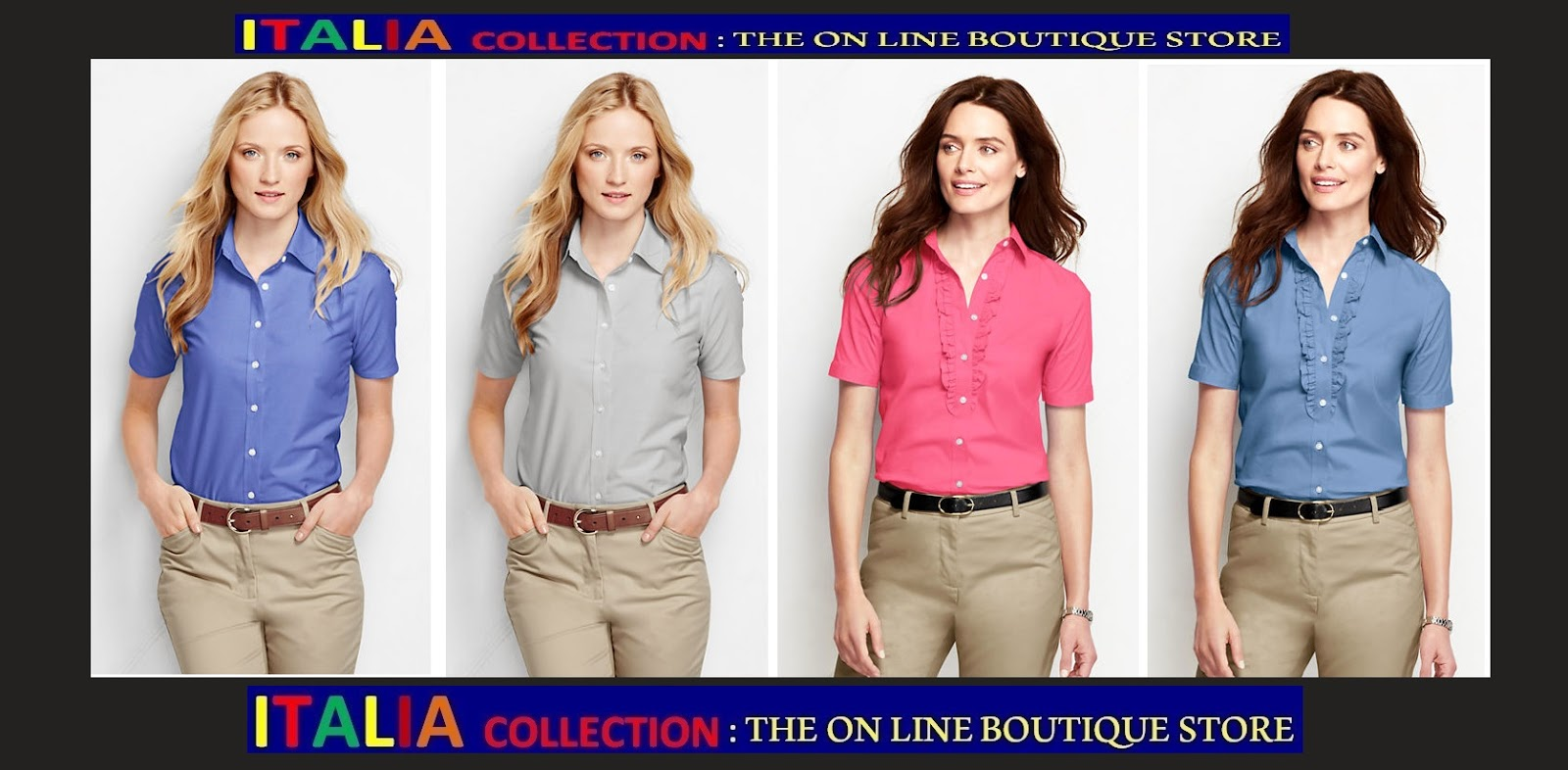imagenes de camisas para mujeres - Fruit of the Loom Camisa oxford manga larga para mujer