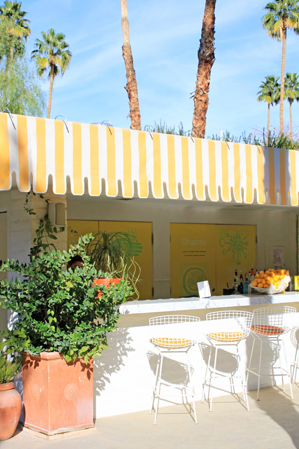 Sunny lemonade stand at The Parker Palm Springs