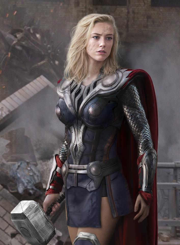 Amber Heard became Thora
