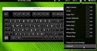 Launching Eekboard from Universal Access Settings GNOME Shell Panel