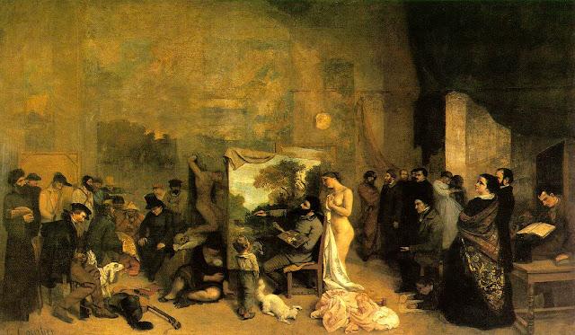 Imagen de la pintura El taller de Courbet