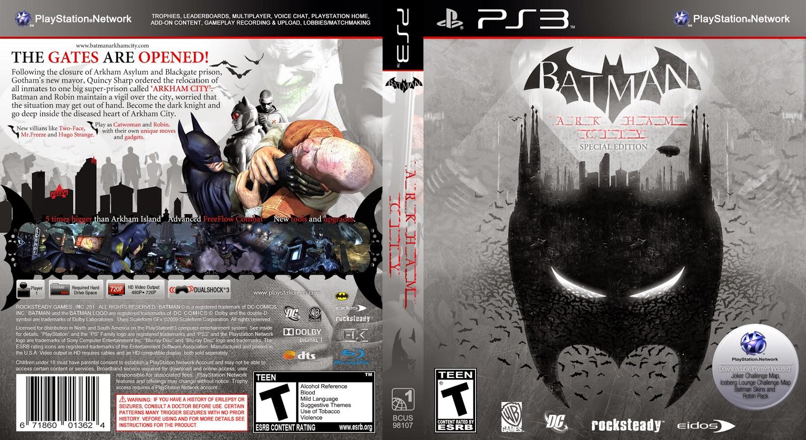 Capa Batman Arkham City Special Edition PS3