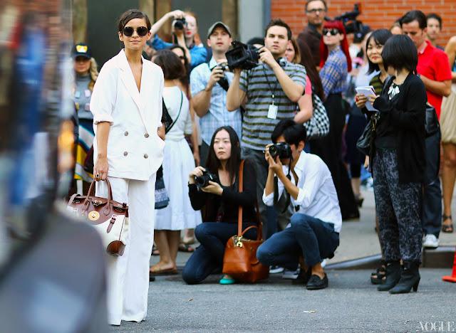 Women suit street style