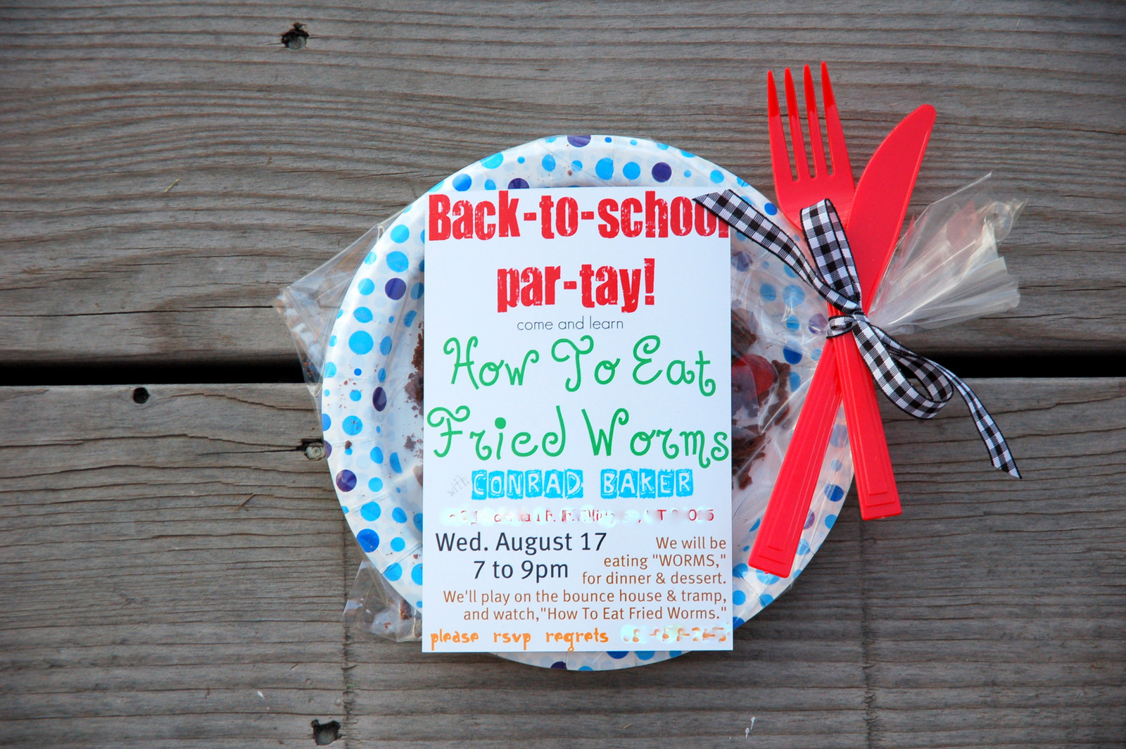 Restlessrisa how to eat fried worms back to school party how to eat fried worms back to school party ccuart Image collections