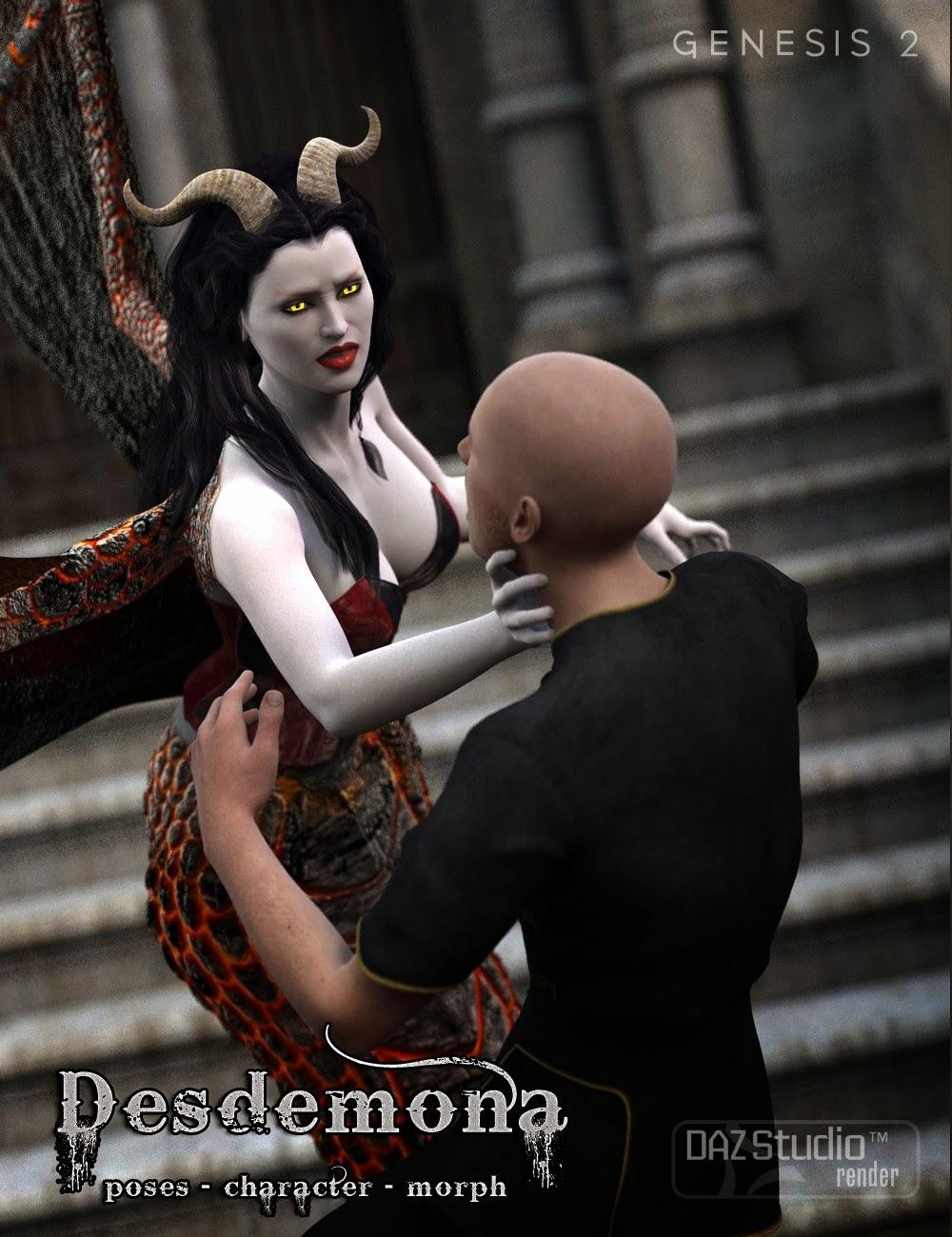 Desdemona SoulKiss - personnage et se battre Poses