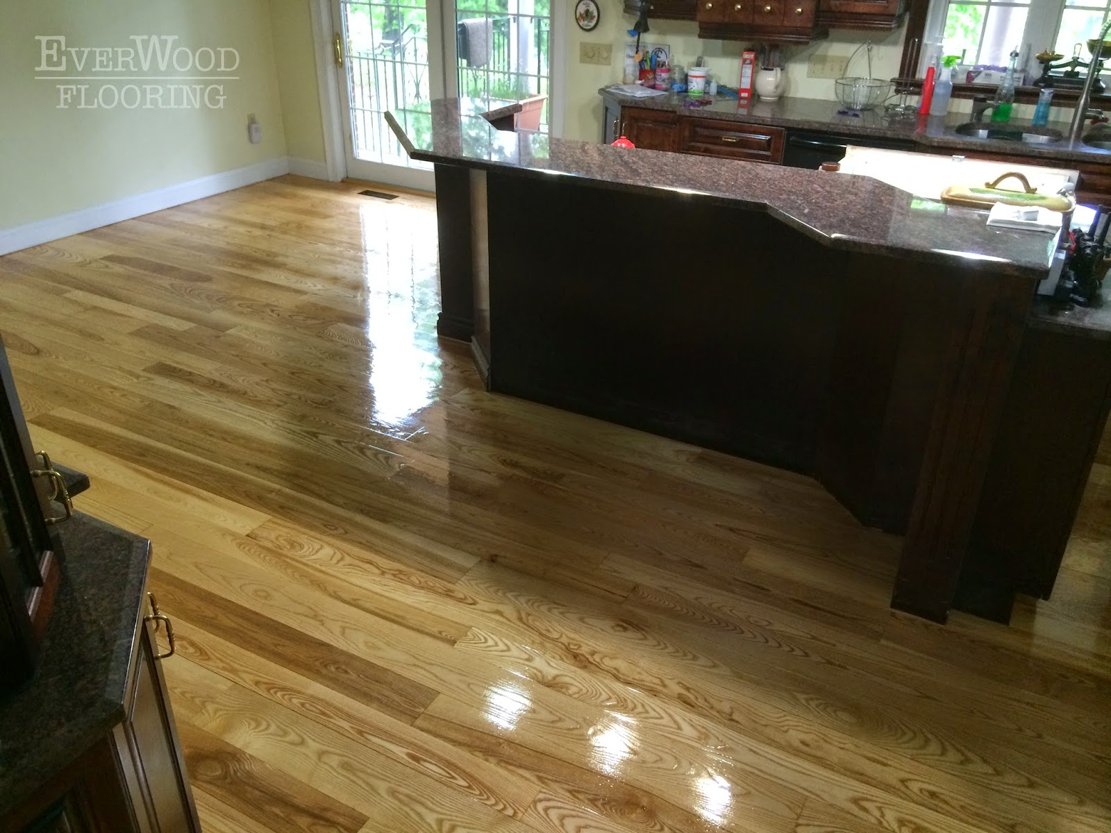 The Home Owner Had A Random Width White Ash Hardwood Installed Which We Refinished With Bona Woodline Oil Modified Polyurethane
