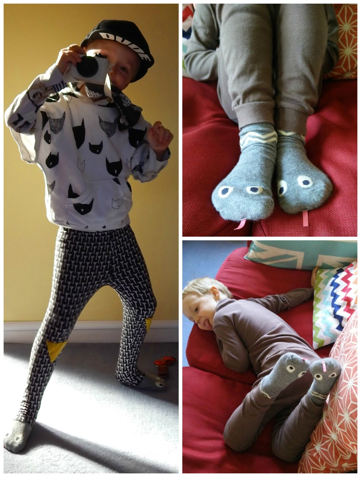 Mini Dressing Snake Socks from Greenberry Kids