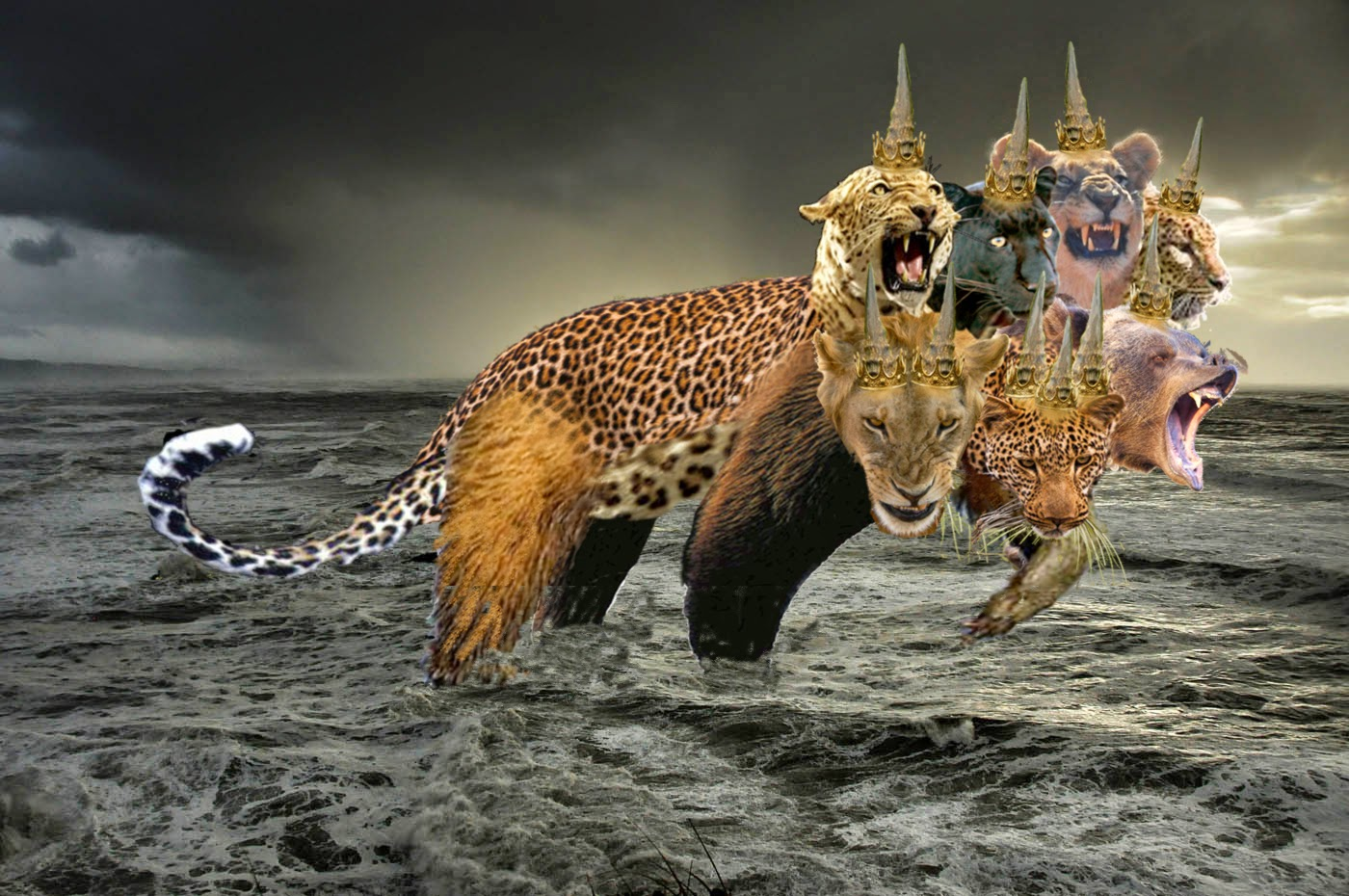 beast of revelations The beast from the sea (revelation 13) is inexorably tied to two other symbols employed in scripture, all representing the same power and the same kingdom the harlot riding the seven-headed beast ( revelation 17 .