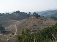 Panoràmica de la Vall del Llor des del trencall al Pi de Can Cartró