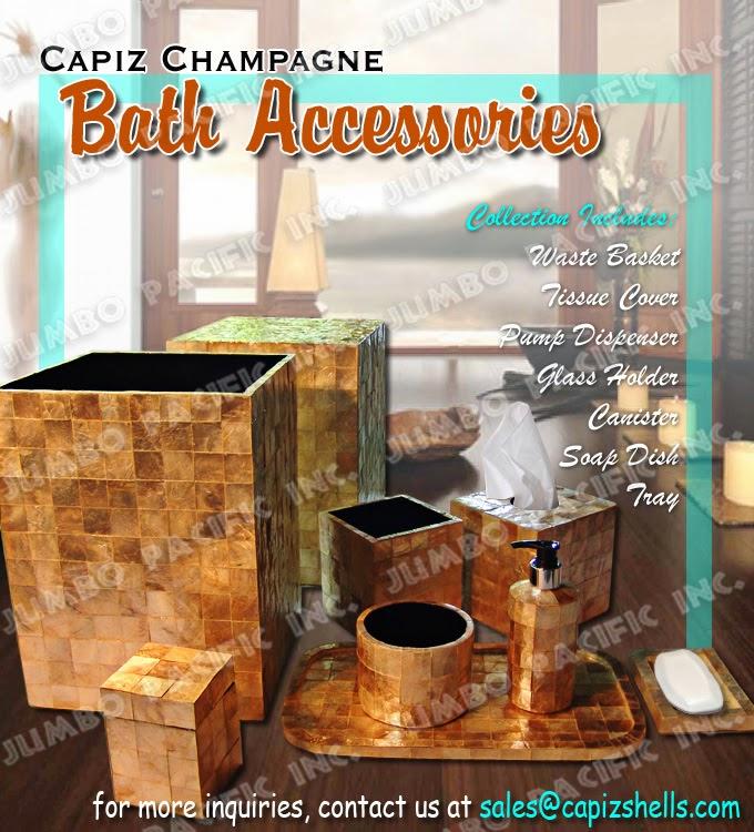 Capiz chandelier capiz lamp shades capiz curtains - Capiz shell bathroom accessories ...