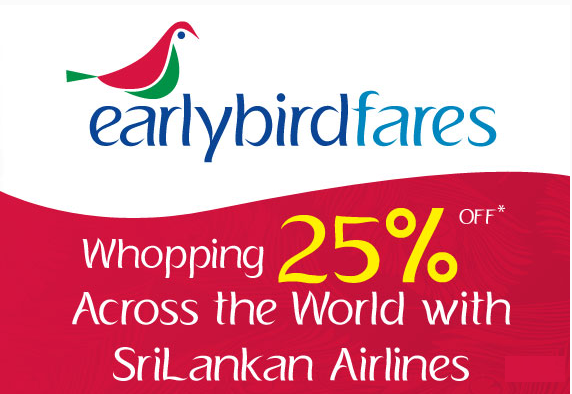 SriLankan Airlines offers a whopping 25% OFF