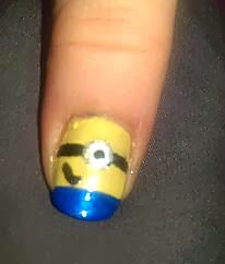 despicable me minion nail