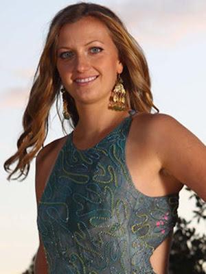 Petra Kvitova Gold Chandelier Earrings