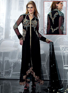 Black-anarkali-suit