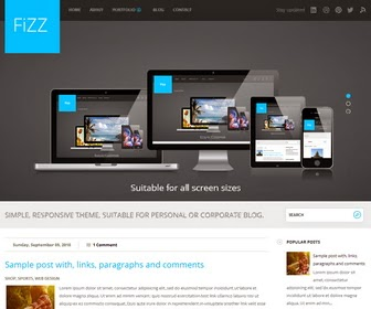 Fizz Responsive Blogger Template