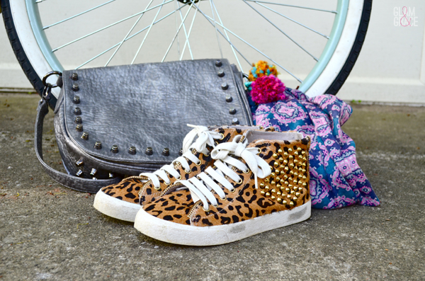 studded hand bag - Zara studded leopard shoes