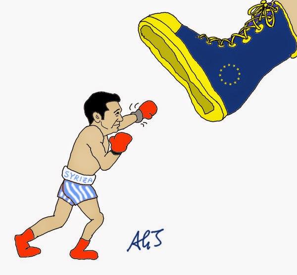 Tsipras, Syriza, Euro, UE, EU, Grecia, satira, vignetta