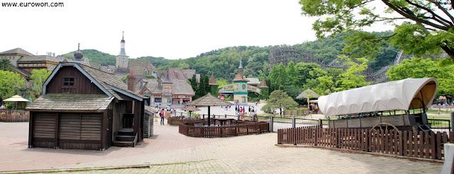 Panorámica del parque de atracciones Everland