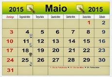 MÊS DE MAIO 2015