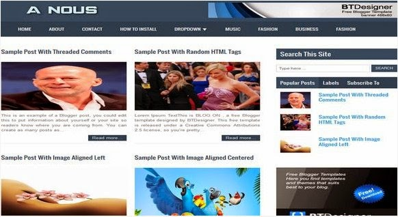NOUS Mag Portfolio Blogger Template