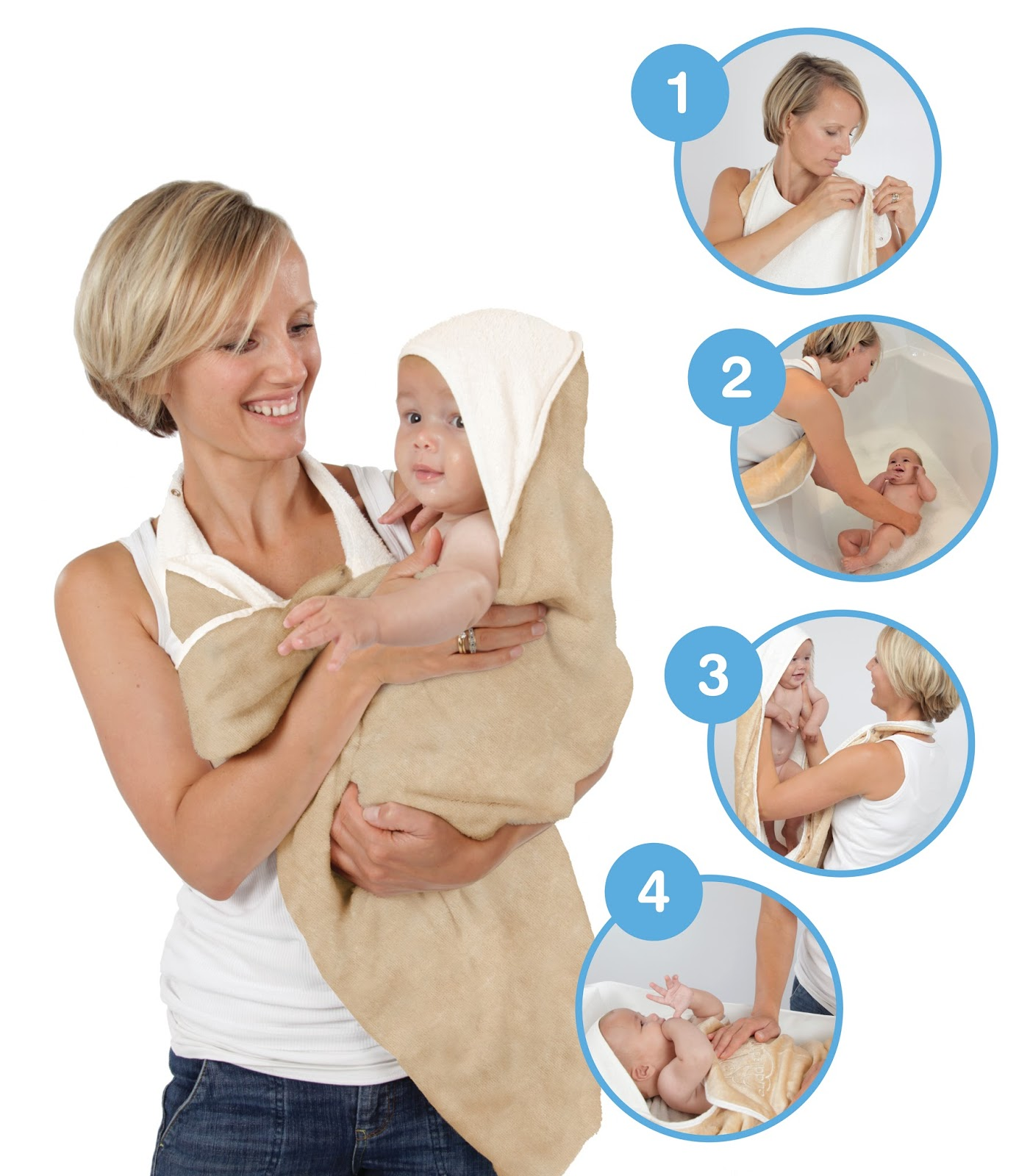 Snuggledry the Wearable Bath Time Towel - Outnumbered 3 to 1